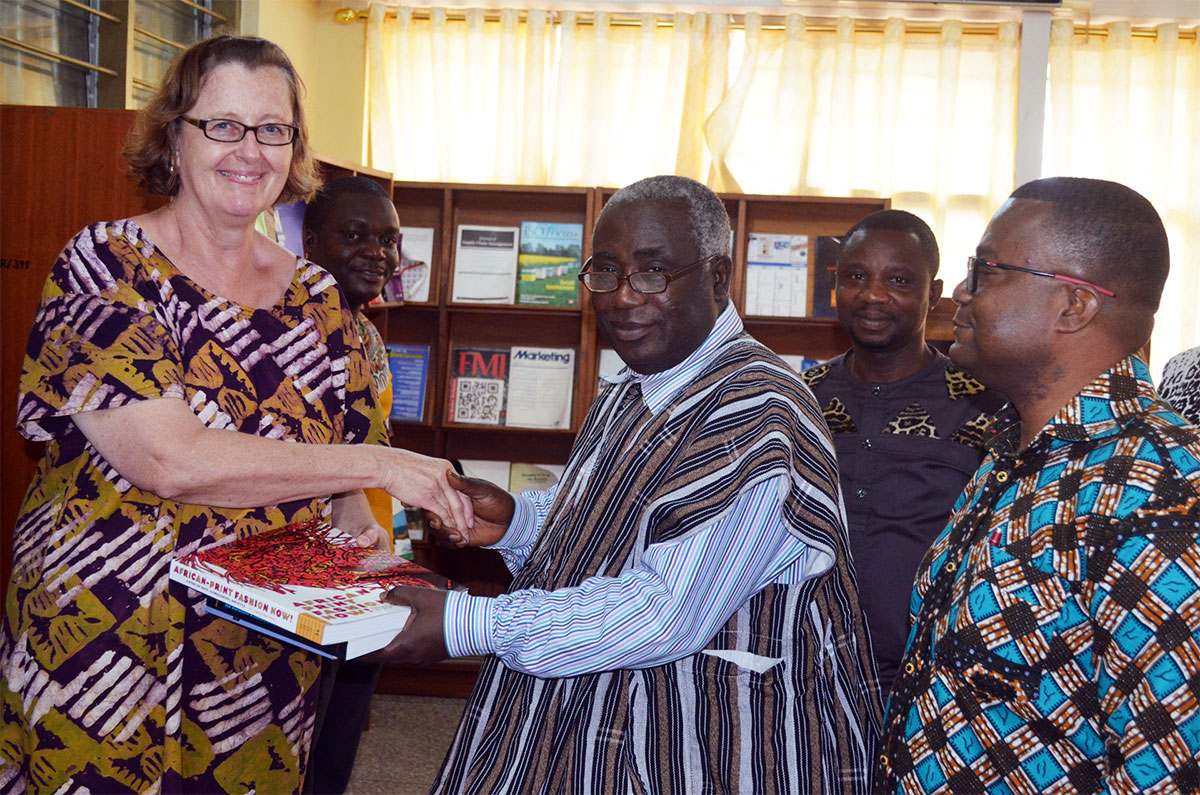 Equiping KsTU Library - Books donated by Dr. suzanne Gott