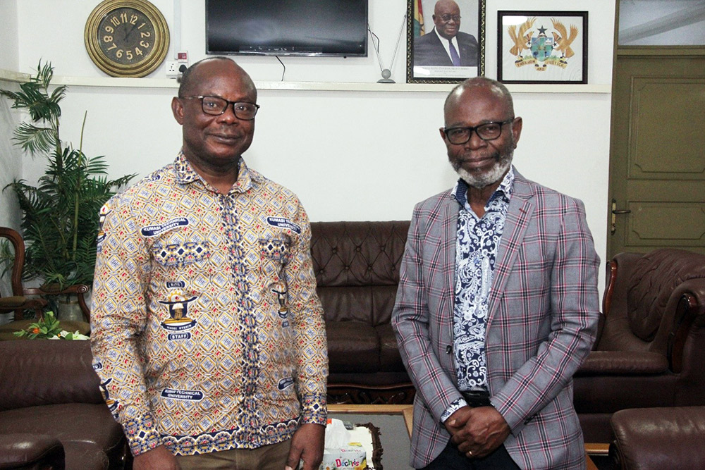 Ghana's High Commissioner To South Africa Pays a Courtesy Call on  KsTU's VC